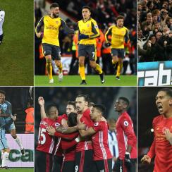 Chelsea, Tottenham, Arsenal, Manchester United, Liverpool and Manchester City stand atop the Premier League