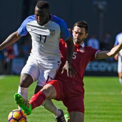 Jozy Altidore earned his 100th cap for the USA