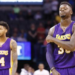 The Lakers started 10-10 but are 6-24 since.