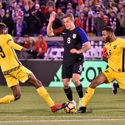Jordan Morris scores for the USA vs. Jamaica
