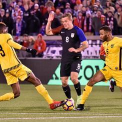 Jordan Morris scores for the USA vs. Jamaica