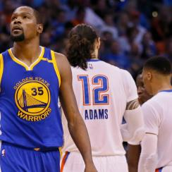 Kevin Durant oklahoma city thunder golden state warriors boos