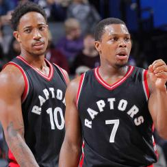 Kyle Lowry and DeMar DeRoza