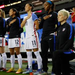 usa soccer kneeling national anthem