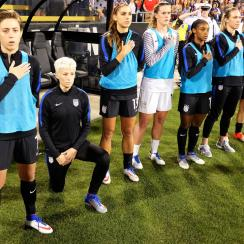 U.S. Soccer has a new policy mandating that players stand respectfully for the national anthem