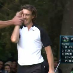 Tommy Fleetwood suffered a high-five/right hook from his caddie last week at the WGC-Mexico.