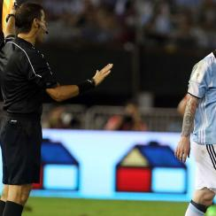 Lionel Messi has been banned four Argentina games
