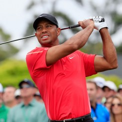 Tiger Woods during the final round of the 2015 Masters Tournament.