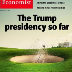 President Donald Trump's affinity for the sport is catching the eye of some top news magazines.