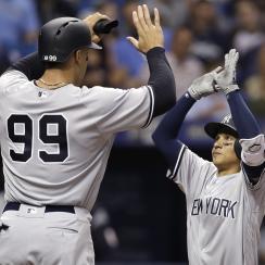 Yankees' Aaron Judge makes Ronald Torreyes look tiny