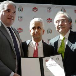USA, Canada and Mexico announce plans to bid to co-host the 2026 World Cup