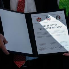 USA, Mexico and Canada have submitted a joint bid for the 2026 World Cup