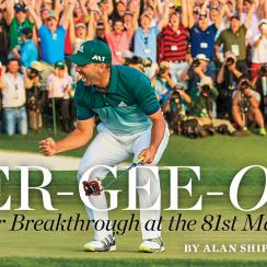 Sergio Garcia is on the national cover of Sports Illustrated for the first time in his career.