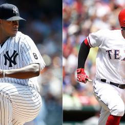 Luis Severino, New York Yankees, Jurickson Profar, Texas Rangers