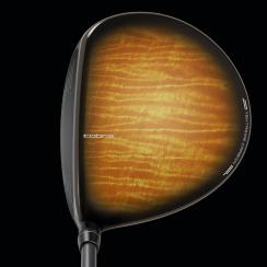 Cobra King F7 driver with wood grain finish.