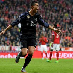 Cristiano Ronaldo scores for Real Madrid vs. Bayern Munich in Champions League
