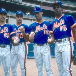 Bob Ojeda, Sid Fernandez, Ron Darling, Dwight Gooden, 1986 New York Mets