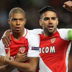 Kylian Mbappe, Radamel Falcao score for Monaco vs. Dortmund