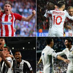 Real Madrid, Atletico Madrid, Juventus and Monaco are in the Champions League semifinals.