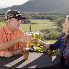 Paul Goydos and Jessica Marksbury at the Desert Mountain Club in Scottsdale, Ariz.