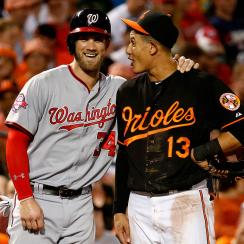Bryce Harper, Washington Nationals; Manny Machado, Baltimore Orioles