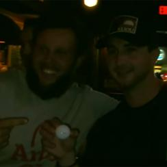 Andrew 'Beef' Johnston treated patrons of a local New Orleans bar to some putting tips -- and some drinks -- ahead of the Zurich Classic.