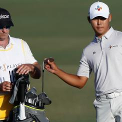 Si Woo Kim on Sunday at the Players Championship.