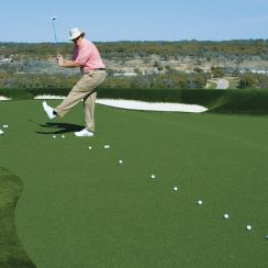 Dave Pelz and his son, Eddie, like to play Drawback (match-play style) before a round.