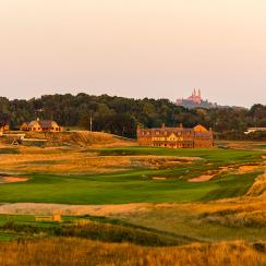 The 18th Hole of Erin Hills in Erin, Wis.