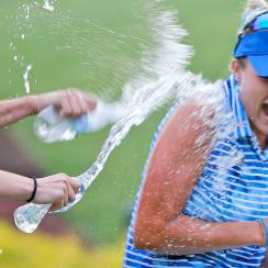 Lexi Thompson won the Kingsmill Championship for her first title since the rules controversy at the ANA Inspiration.