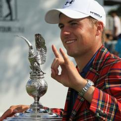 Jordan Spieth won the 2016 Dean & Deluca Invitational by three strokes.