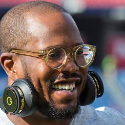 Through his signature thick glasses, Miller sees his life in football differently than other NFL players in similar positions.