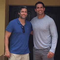 Fasano (right) and Antine, in the doorway of a treatment center.