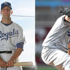 Alex Gordon, Kansas City Royals; Clayton Kershaw, Los Angeles Dodgers