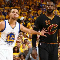 Steph Curry and LeBron James