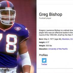 Greg Bishop: SI writer, former NFL player meet after Wikipedia glitch