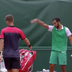French Open: Laurent Lokoli shoos handshake (video)