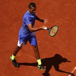 nick kyrgios clay court roland garros french open 2017