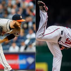 Dallas Keuchel, Houston Astros; Max Scherzer, Washington Nationals