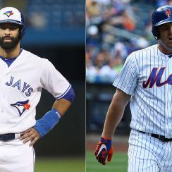Jose Bautista, Toronto Blue Jays; Jay Bruce, New York Mets