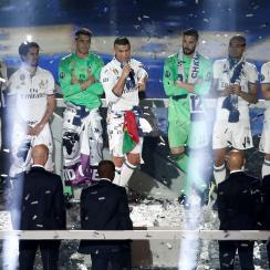 Cristiano Ronaldo won a third Champions League title with Real Madrid