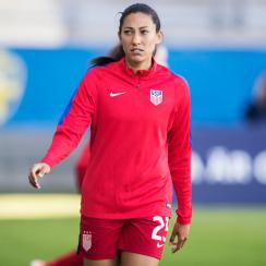 Christen Press scores for the USWNT vs. Norway