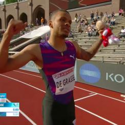 andre de grasse 100 meters stockholm video 9.69