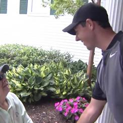 Rory McIlroy meets longtime fan.