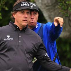 Phil Mickelson will have his brother Tim on the bag for the rest of the season. Mickleson and Bones announced their split last week.