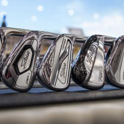 The new prototype Titleist 718 irons.