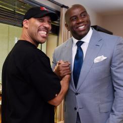 LaVar Ball tells Magic Johnson it's just marketing