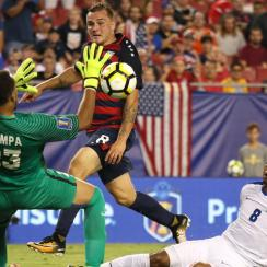 Jordan Morris scores for the USA vs. Martinique in teh Gold Cup