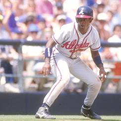 From the moment he arrived in Atlanta, in 1991, Sanders was a terror on the basepaths.