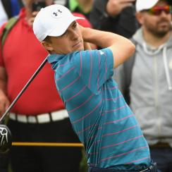 Jordan Spieth of the United States tees off during a practice round prior to the 146th Open Championship at Royal Birkdale on July 19, 2017 in Southport, England. (Photo by Ross Kinnaird/R&A/R&A via Getty Images)